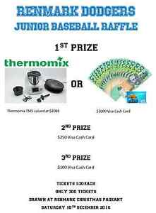 Thermomix or cash raffle fundraiser.  Drawn on Saturday  10th Dec Renmark Renmark Paringa Preview