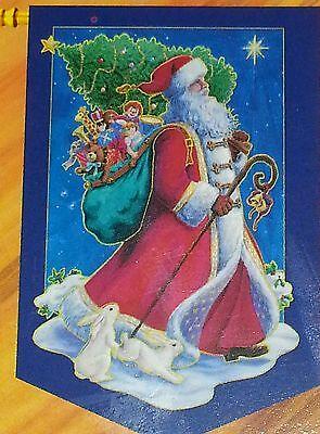 Elegance Impressions Christmas Decorative Flag Santa 30x48''  NEW #91115