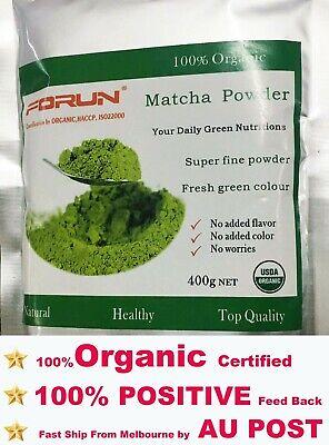 FORUN Organic Matcha, Green Tea Powder 400G- Free Fast Ship BY AU POST
