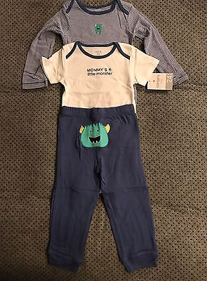 Carters Mommy's Little Monster 3 Piece Bodysuits Pants 24 Months NWT Little Monster Pant