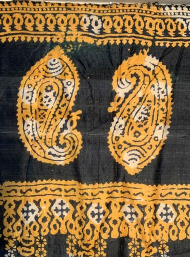 AMAZING OLD UZBEK SILK PALANGI SHAWL