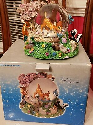 Disney Store Bambi and Friends Snowglobe Waltz of the flowers