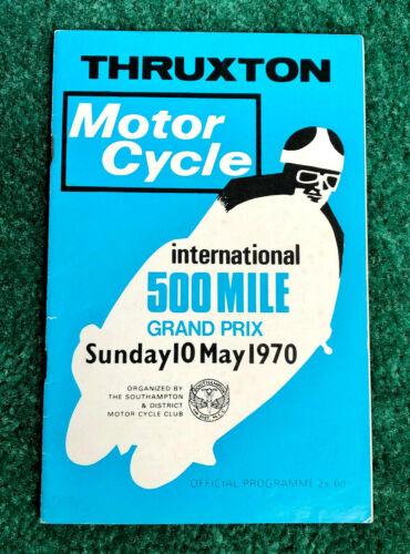 RARE ORIGINAL 1970 THRUXTON MOTORCYCLE GP RACE PROGRAM TRIUMPH NORTON BSA ADS