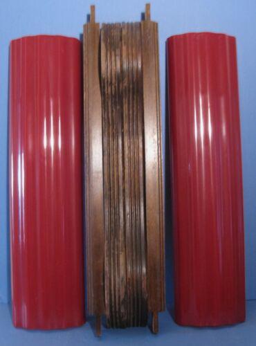 Set Bottom Plastic Columns and Wood Frame for a 1939 Mills Zephyr Jukebox
