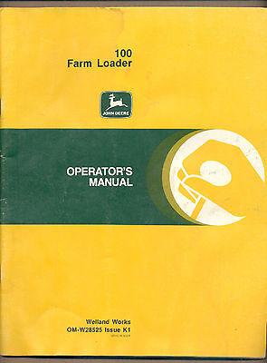 John Deere Manual 100 Farm Loader