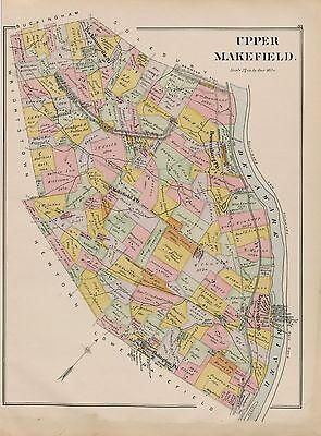 BUCKS COUNTY NORTHAMPTON 1891 WRIGHTSTOWN RICHBORO PENNSYLVANIA  ATLAS MAP