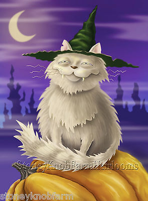Halloween Ghost Cat ~ DIY Counted Cross Stitch Pattern (Diy Halloween Cat)