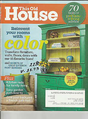 This Old House Magazine May 2012 Back Issue Free Shipping