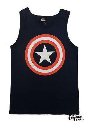 Captain America Shield Symbol Logo Marvel Comics Adult Tank Top](Captain America Shield Adult)