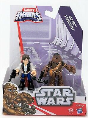 Star Wars Chewbacca & Han Solo Galaxy Galactic Playskool Heroes Figure Toy