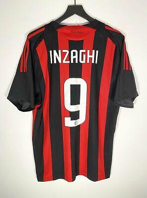 Adidas AC Milan #9 Inzaghi 08/09 Home Jersey (M)