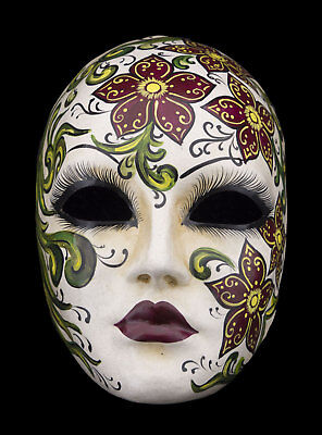 Mask Venice Primavera / spring Florale paper mash for collection - 1582 - V53