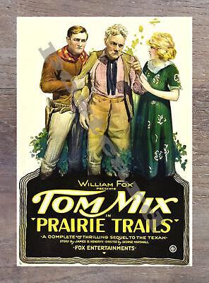 Historic Prairie Trails 1920 Western Movie Postcard 1