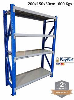 2M X 1.5M X 0.5M  Warehouse Garage Shelving / Racking