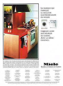 publicite advertising 1994 miele lave vaisselle machine laver ebay. Black Bedroom Furniture Sets. Home Design Ideas