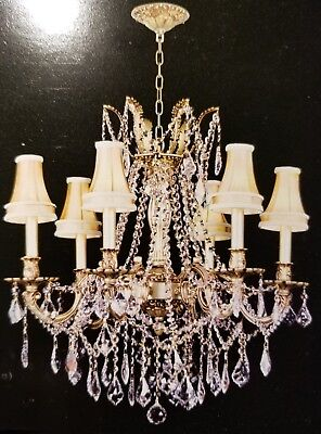Palace Royal 6 Light French Gold Crystal Chandelier Light w