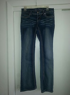 (Anya Jeans Decorated Back Pockets Studded Bling Distressed Junior's size 5/6 GUC)