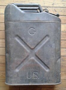Vintage  military gas can russakov  20-05-51 original  paint