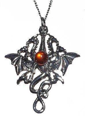 Briar Bestiary Lernaen Hydra Dragon Amulet Pendant Necklace For Fluid Power BB01