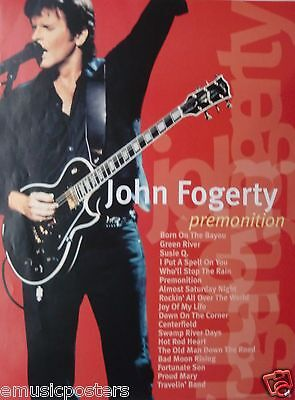 """JOHN FOGERTY """"PREMONITION"""" U.S. PROMO POSTER - Creedence Clearwater Revival"""