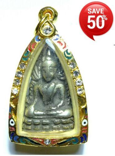 THAI BUDDHA AMULET OLD VARY RARE PHRA CHINNARAJ INDOCHINE  B.E. 2485