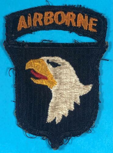 WW 2,101st Airborne Division, Type 9 SSI w/ Attached Tab, Full Emb, Exc. Cond,#8