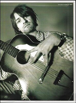 Nirvana Kurt Cobain Stella Harmony 12-string acoustic guitar 8 x 11 pin-up photo