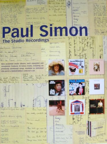 "PAUL SIMON 2 U.S. PROMO POSTERS: ""STUDIO RECORDING & SONGS FROM THE CAPEMAN"""