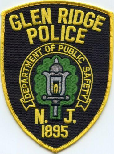 GLEN RIDGE NEW JERSEY NJ style #A POLICE PATCH