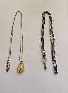 Lock and Key necklaces