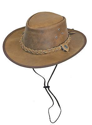 Hut Australien (Scippis Westernhut Hooley Australien Outdoorhut Lederhut Cowboyhut Lederhüte Tan)