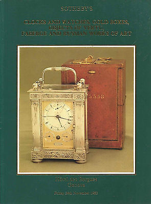 SOTHEBY'S GENEVA SNUFF GOLD BOXES FABERGE RUSSIAN VERTU WATCHES CLOCK Catalog 82 for sale  Boca Raton