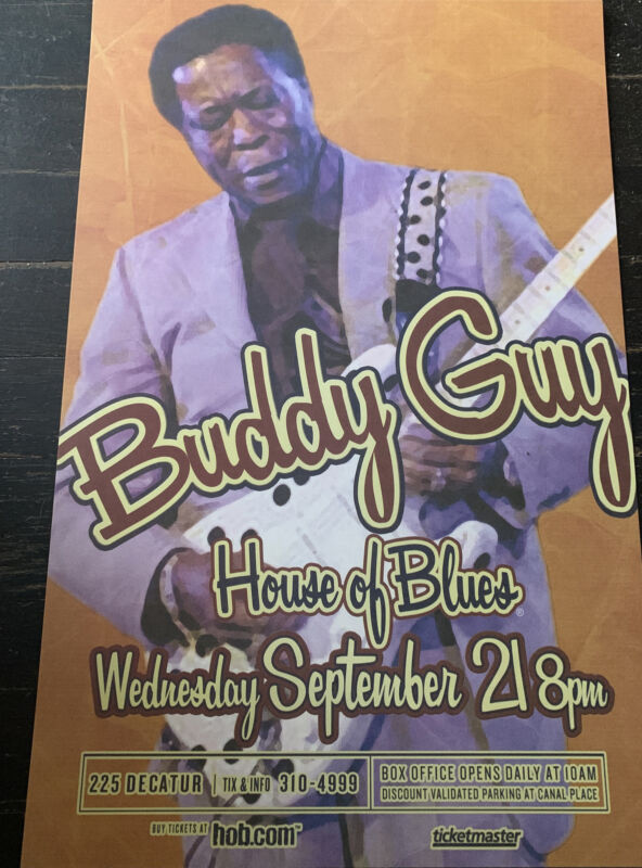 11x17  Buddy Guy Blues 2005 American Tour Poster House Of Blues New Orleans