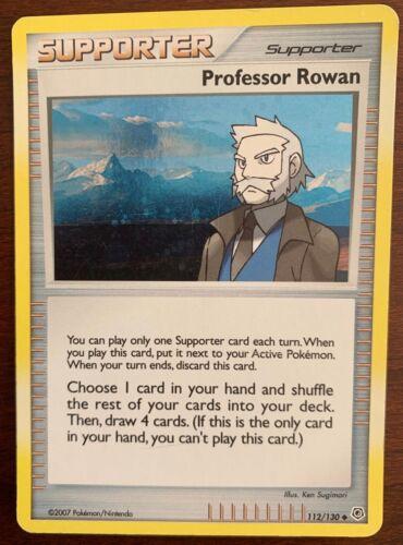 Professor Rowan 112//130 Program 2007-2008 League Promo Pokemon Light Play