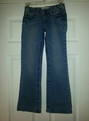 Aeropostale Chelsea Bootcut Distressed Pinstripped Jeans Junior's size 00 Short Aeropostale Bootcut Jeans