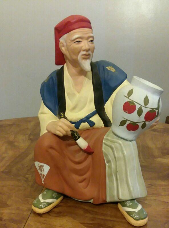 """Vintage Hakata  Artisan  Doll Craftsman Made in Japan 11"""" T."""