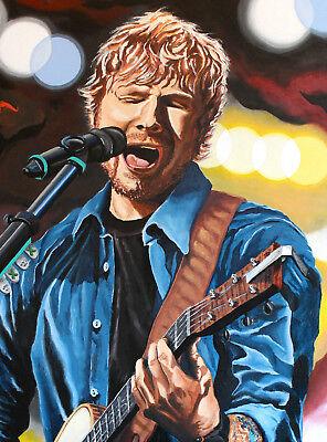 ED Sheeran Kunstdruck signiert vom Künstler Volker Welz Essen limitiert 49 Expl.