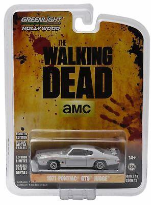 The Walking Dead Tv 1971 Pontiac Gto Judge Diecast Car 1 64 Greenlight 3 Inch