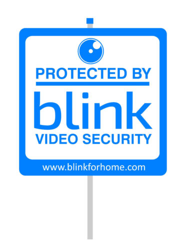 """Blink security yard sign attach to an aluminum pole 30"""""""