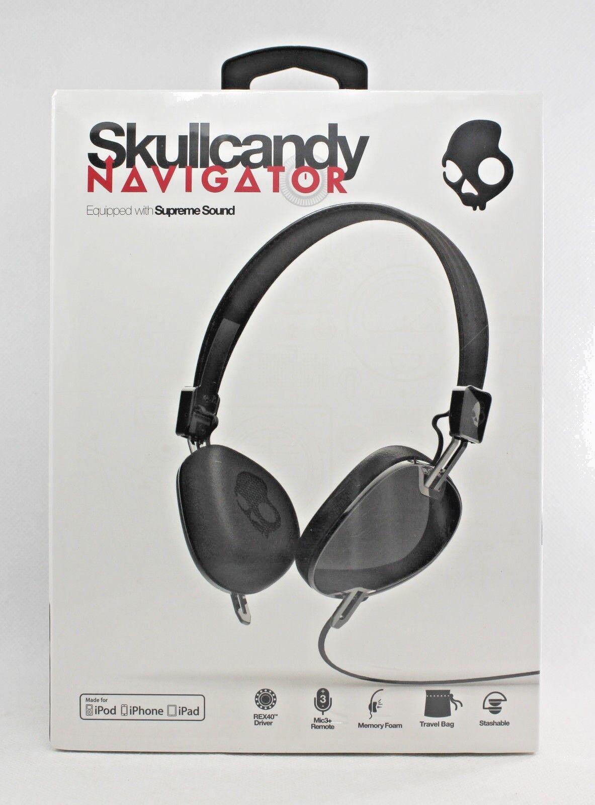 Skullcandy Navigator OnEar Headphones with Mic Black S5AVDM1