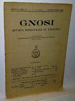 Gnosi Rivista Bimestrale Di Teosofia Luglio-agosto 1925 -  - ebay.it