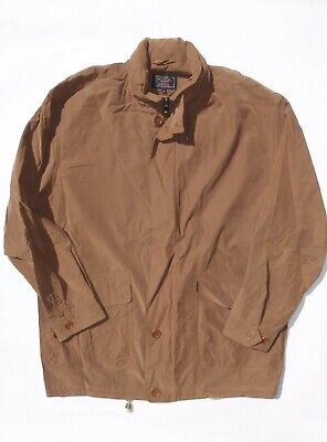 Paul & Shark Yachting men's large brown nylon cotton resin jacket zips into bag