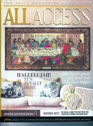 All Access VIP MARCH 2018 Anita Goodesign Machine Embroidery Designs CD