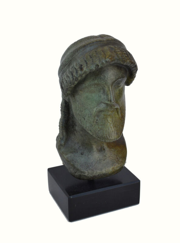 Zeus bust head God King of all Ancient Greek Gods sculpture artifact