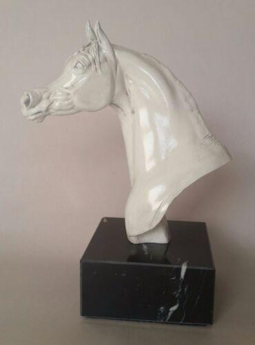 Arabian Stallion Horse Bust, Grey Marble Color