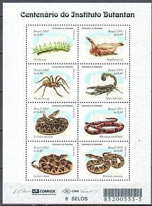 Brazil 2001 Venomous Animals - caterpillar - Mi.3132-39 sheet - MNH (**) - <span itemprop='availableAtOrFrom'>Cieszyn, Polska</span> - Brazil 2001 Venomous Animals - caterpillar - Mi.3132-39 sheet - MNH (**) - Cieszyn, Polska