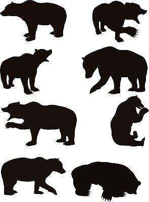 15 Bear Vector Clipart For Vinyl Cutter
