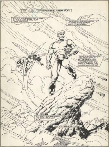 NEW GODS #4 PAGE 1 TITLE SPLASH! PARIS CULLINS! BOB LEWIS! Orion!