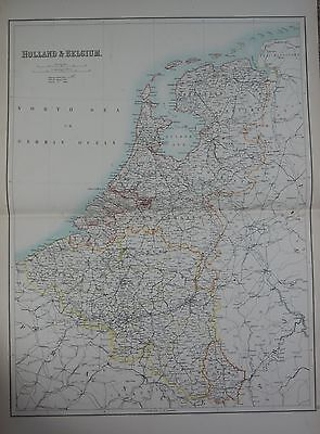1897 HOLLAND AND BELGIUM LARGE MAP