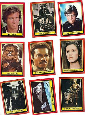 STAR WARS Return of the Jedi -- original 132 card set -- 1983